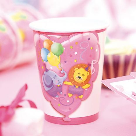 Baby Girl Party Cups Card 250cc 10s
